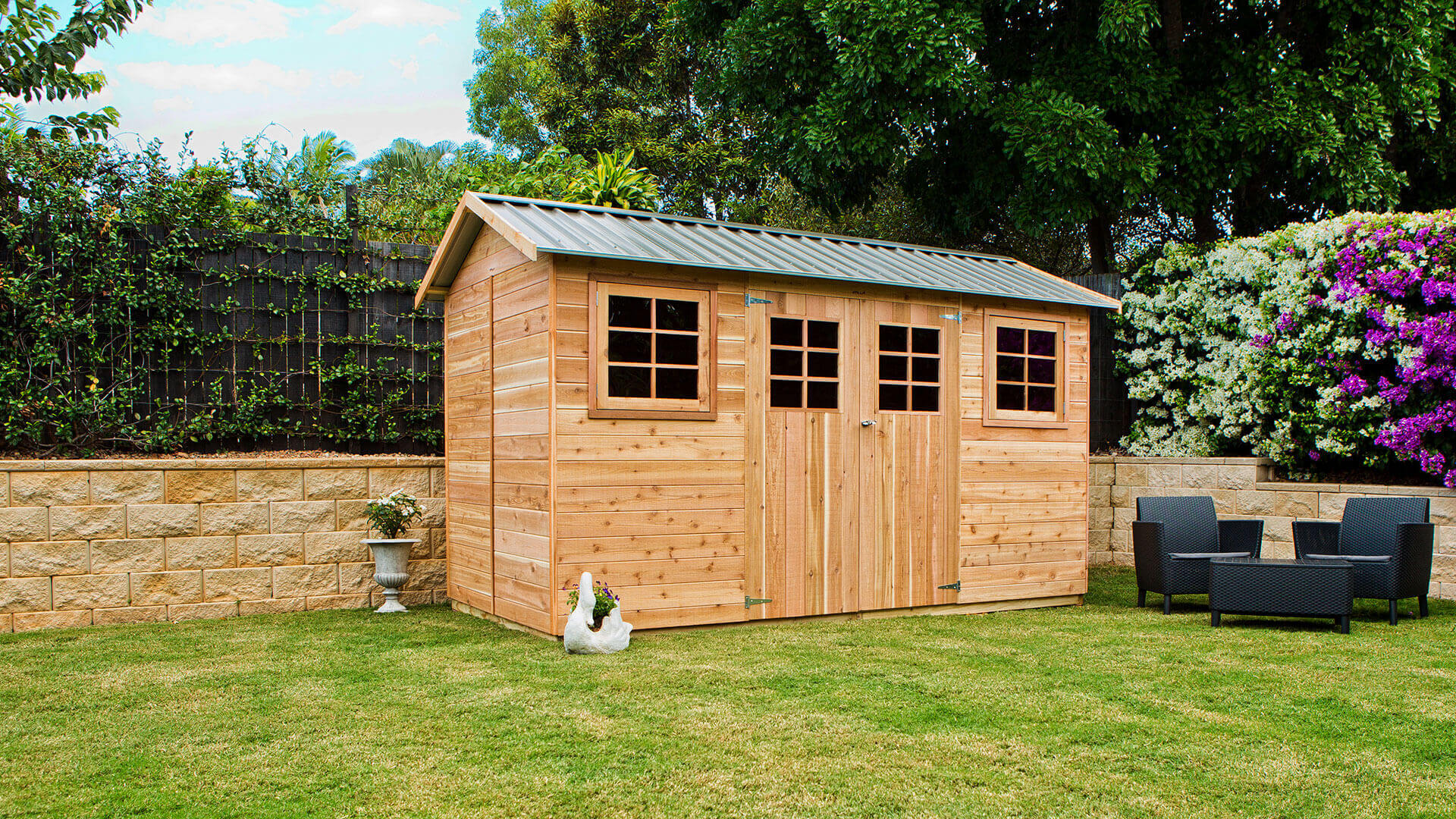 Not just any shed, <b>a Cedar Shed!</b>